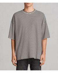 AllSaints - Torny Stripe Crew Sweatshirt - Lyst