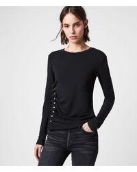 AllSaints Hatti Long Sleeve T-shirt - Black