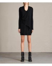 AllSaints - Drina V-neck Dress - Lyst