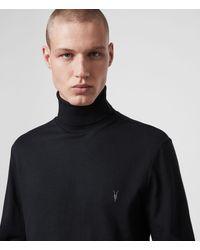 AllSaints Parlour Roll Neck Top - Black