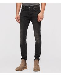 cheapest price cheap for discount genuine shoes AllSaints Index Cigarette Skinny Fit Jeans in Blue for Men ...
