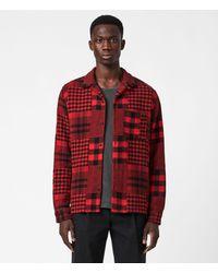 AllSaints Brucker Ls Shirt - Red
