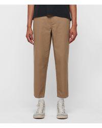 AllSaints Jute Cropped Wide-leg Pants - Brown