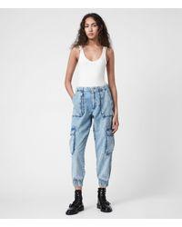 AllSaints Women's Frieda Denim Trousers - Blue