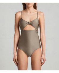 AllSaints - Rita Metallic Swimsuit - Lyst