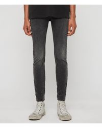 AllSaints - Cigarette Skinny Jeans, Dark Grey - Lyst