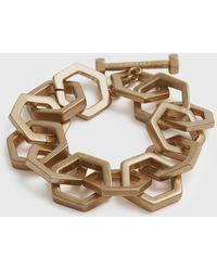 AllSaints Hexlink Gold-tone Bracelet - Metallic