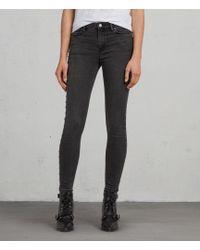 AllSaints - Grace Studded Ankle Skinny Jeans - Lyst