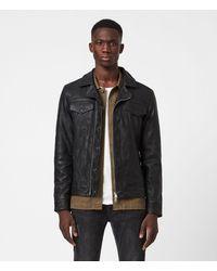 AllSaints Brandt Leather Jacket - Black
