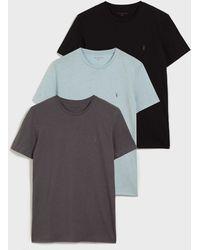 AllSaints Tonic Crew 3 Pack T-shirts - Gray