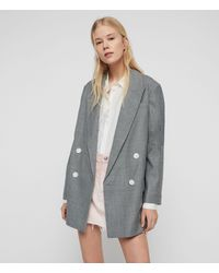 AllSaints Rowan Check Blazer - Grey