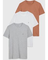 AllSaints Tonic Crew 3 Pack T-shirts - Multicolour