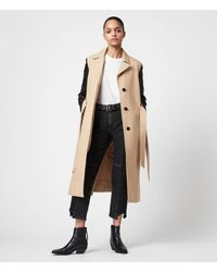 AllSaints Cade 2-in-1 Trench Coat - Natural