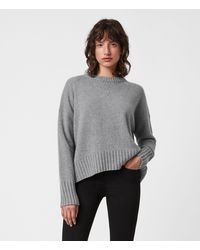 AllSaints Arun Cashmere Blend Jumper - Grey