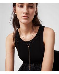 AllSaints Lariat Gold-tone Necklace - Multicolour