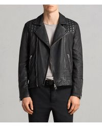 AllSaints - Taro Leather Biker Jacket - Lyst