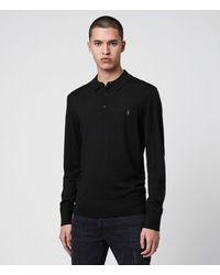 AllSaints Mode Merino Polo - Black