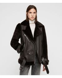 AllSaints - Alto Shearling Jacket - Lyst