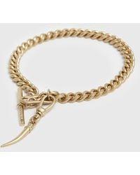 AllSaints Gila Gold-tone Bracelet - Metallic