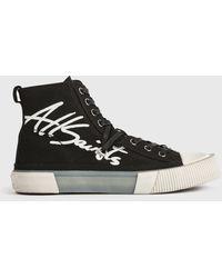 AllSaints Elena Signature High Top Sneakers - Black