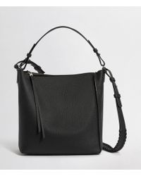 AllSaints Kita Leather Crossbody Bag - Black