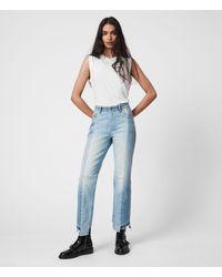 AllSaints Kim Twotone Jean Womens - Blue