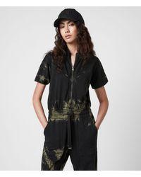 AllSaints Kayla Tie Dye Jumpsuit - Black