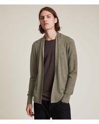 AllSaints - Men's Mode Merino Open Cardigan Nettle Green Marl Size: Xs - Lyst