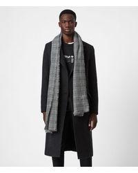 AllSaints Griffin Wool Blend Scarf - Black