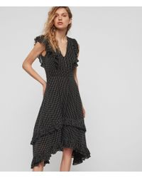 AllSaints - Evia Embroidered Dress - Lyst