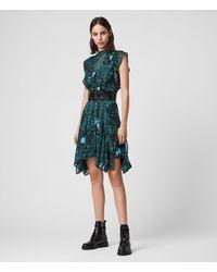 AllSaints 'fleur' Patterned Dress - Green
