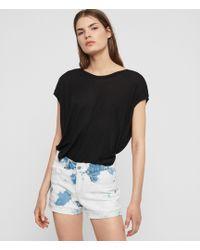 AllSaints Pam Low-rise Denim Shorts - Blue