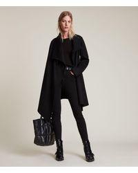 AllSaints Monument Eve Coat Womens - Black