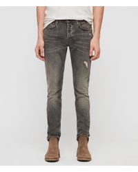 AllSaints Cigarette Damaged Jeans