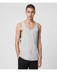 AllSaints Men's Cotton Lightweight Tonic Vest - Grey