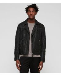 AllSaints - Taro Leather Biker Jacket - Lyst