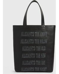 AllSaints Stamp Leather Tote Mens - Black