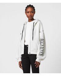 AllSaints Amphia Chlo Zip Hood Womens - White