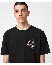 AllSaints Quickness T-Shirt Mens - Schwarz