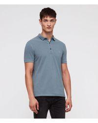 AllSaints - Reform Short Sleeve Slim Polo Shirt - Lyst