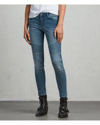 AllSaints Biker Ankle Skinny Jeans - Blue