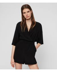 AllSaints Laurel Playsuit - Black