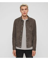 AllSaints Forge Suede Jacket - Gray