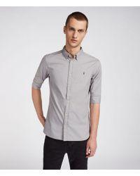 AllSaints - Redondo Half Sleeve Shirt - Lyst