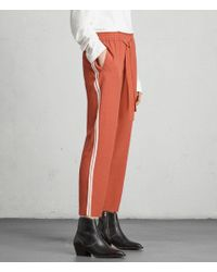 AllSaints | Talia Stripe Trouser | Lyst