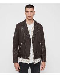 AllSaints Milo Leather Biker Jacket - Black