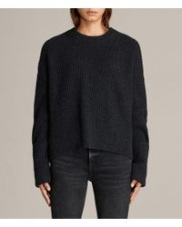 AllSaints - Pierce Crew Jumper - Lyst