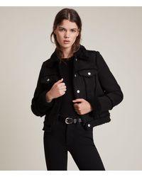 AllSaints Women's Kingsly Shearling Jacket - Black