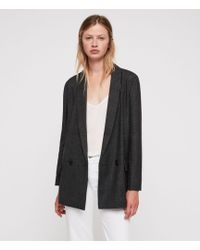 5f81b36b2fd28 Allsaints Drina Drape Jacket in Black - Lyst