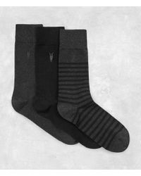 AllSaints - Breton Sock Pack - Lyst